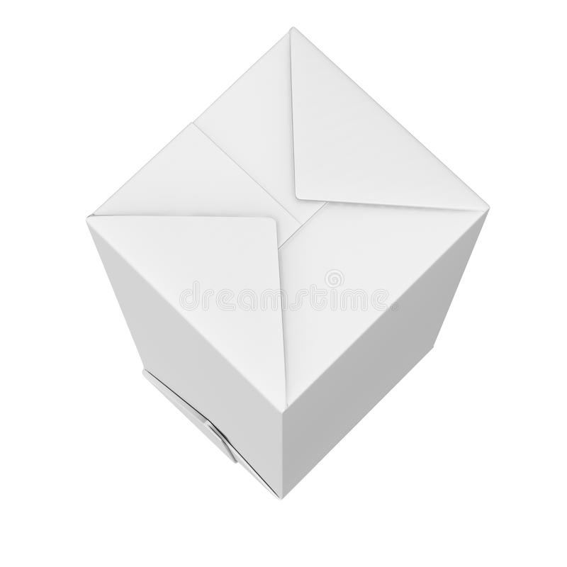 le rendu 3D du lait et le jus cartonnent l'emballage de boîte avec la maquette de couvercle à visser, boîte vide claire blanche illustration stock