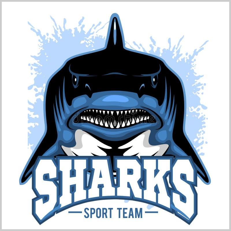 Le requin fort folâtre la mascotte Illustration de vecteur illustration stock