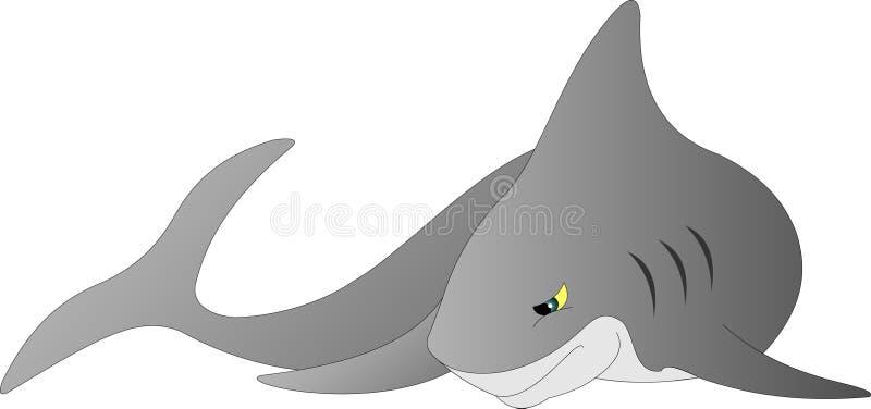 Le requin gris le plus commun illustration de vecteur
