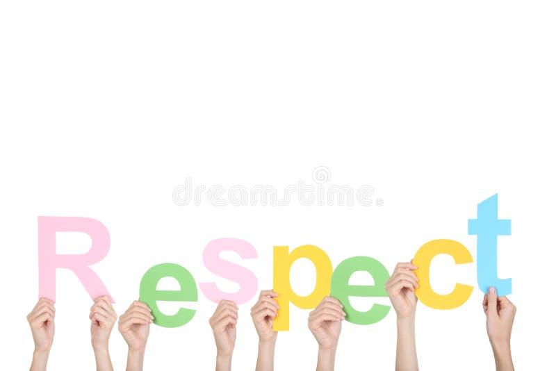 Le respect de mot photo libre de droits