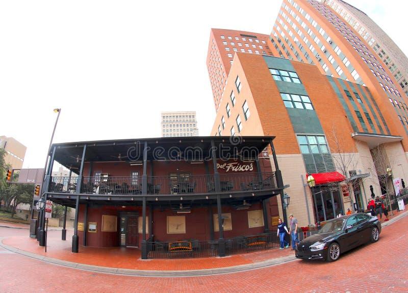 Le restaurant de Del Frisco à Fort Worth du centre le Texas photographie stock libre de droits