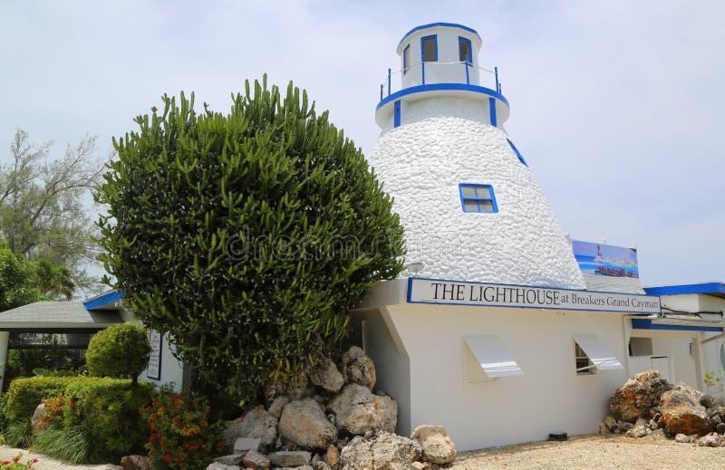 Le restaurant de phare aux briseurs Grand Cayman images libres de droits