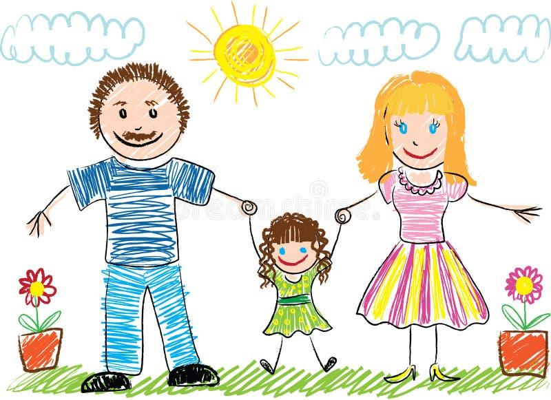 Le retrait de l'enfant illustration libre de droits