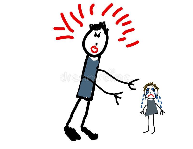 Le retrait de l'enfant de l'abus illustration stock
