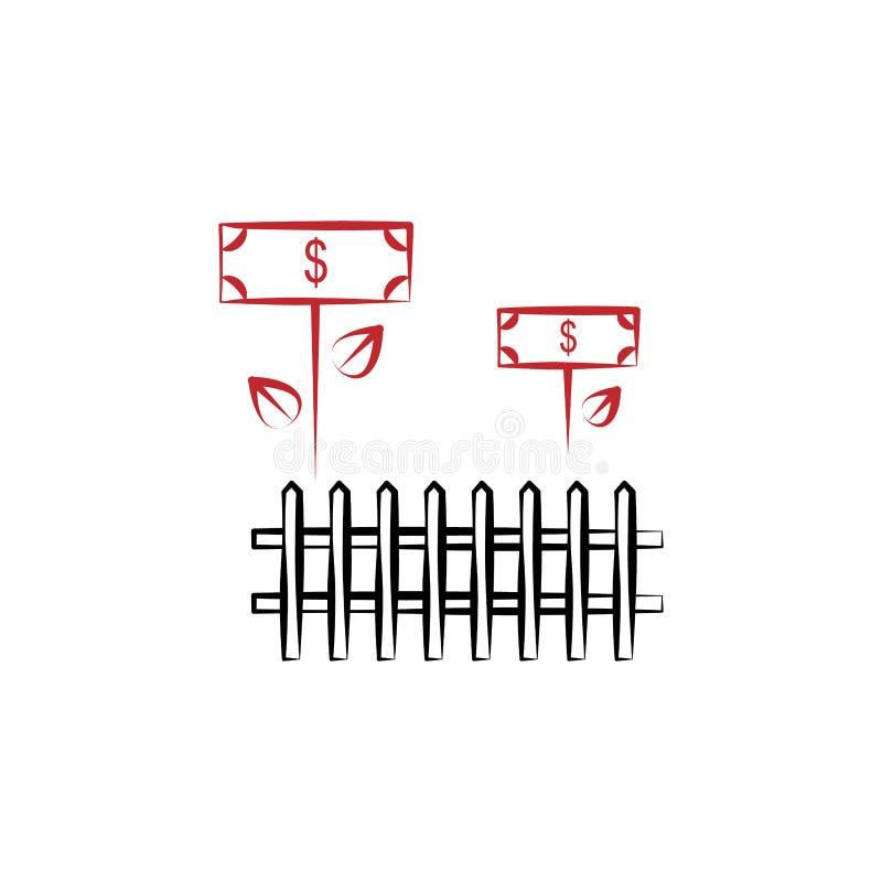 Le revenu agricole 2 a coloré l'icône tirée par la main Illustration d'élément coloré de revenu agricole Conception de symbole d' illustration de vecteur