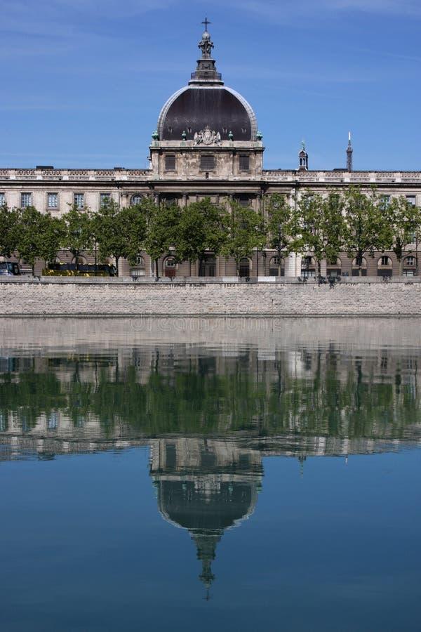 Le Rhône à Lyon 2 image libre de droits