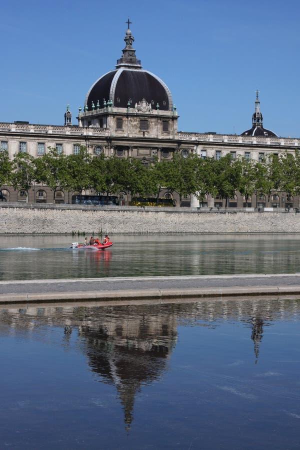 Le Rhône à Lyon 3 photos libres de droits