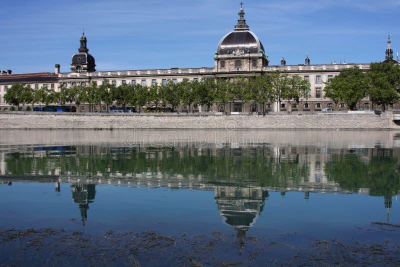 Le Rhône à Lyon photo stock