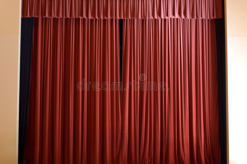 Le rideau est encore fermé photo stock