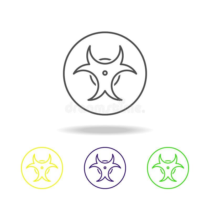 le risque biologique a coloré des icônes Élément d'illustration de la science Illustration au trait mince pour la conception de s illustration de vecteur