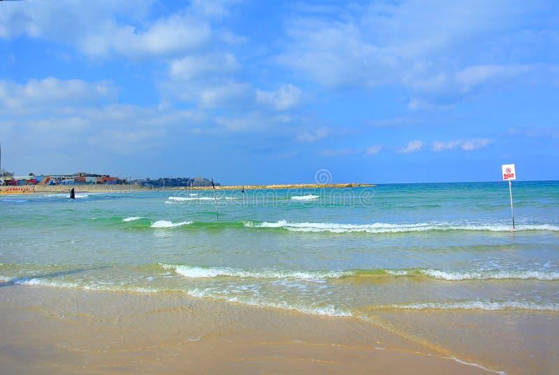 Le rivage israélien Tel Aviv l'israel La mer Méditerranée images libres de droits