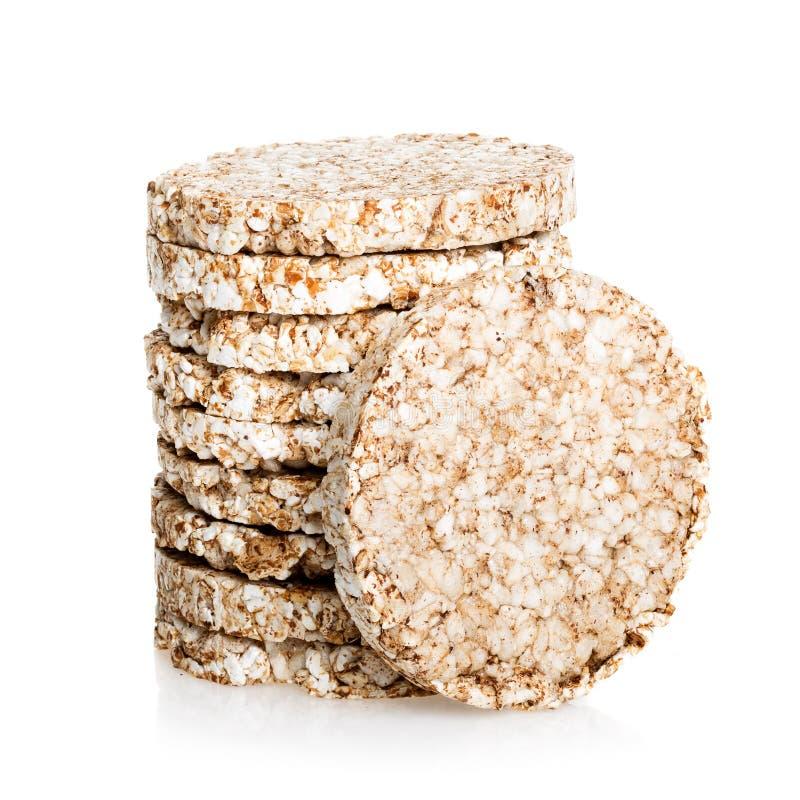 Le riz de Galette avec peu de calories suivent un régime, pain faible en calories images stock