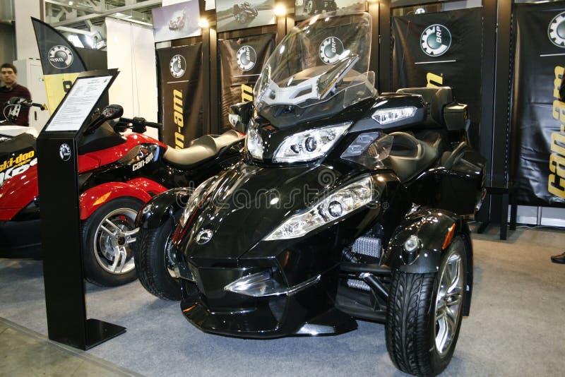 Le roadster BRP Pouvoir-suis Spyder RT-S photographie stock