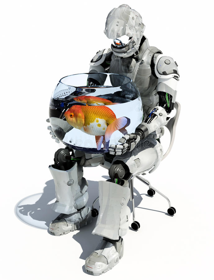 Le robot photo stock