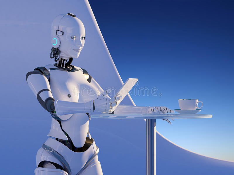 Le robot illustration libre de droits