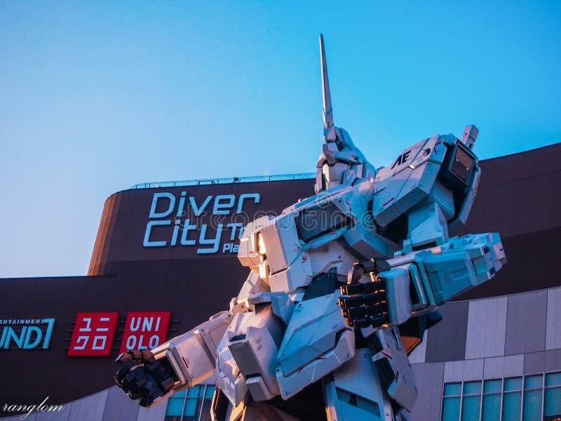 Le robot est un favori des enfants et d'un point de repère du Japon photo libre de droits