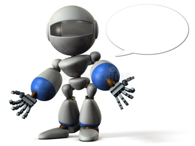 Le robot a jeté une mauvaise rumeur illustration stock