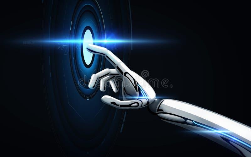 Le robot remettent le fond noir illustration de vecteur