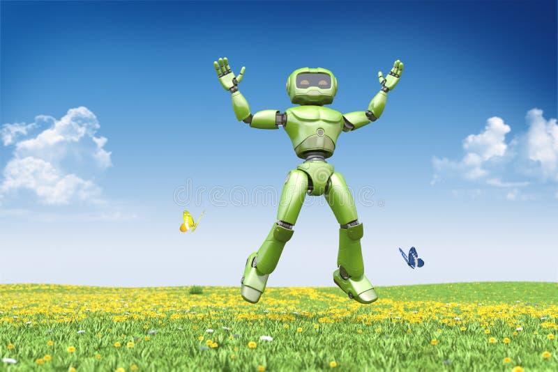 Le robot saute  illustration libre de droits