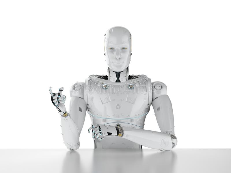 Le robot se reposent dans le bureau illustration libre de droits