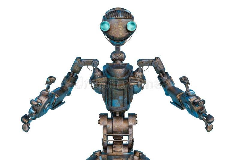 Le robot travailleur veut un câlin