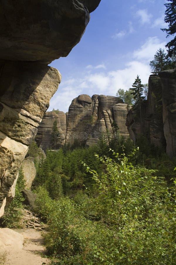 Le rocce costituite da tempo fotografia stock