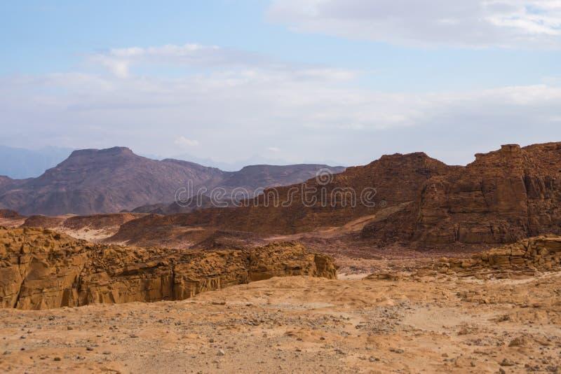 Le rocce e le montagne nel timna parcheggiano in Israele fotografia stock libera da diritti