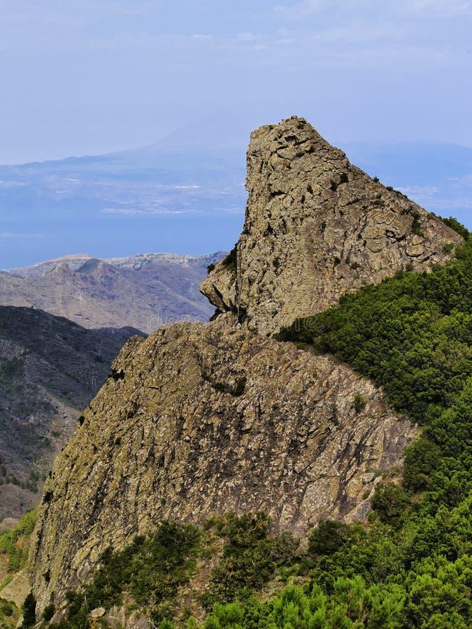 Le rocce su Gomera fotografie stock libere da diritti
