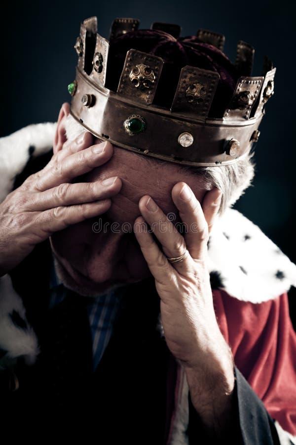 Le roi échoué d'affaires photographie stock libre de droits
