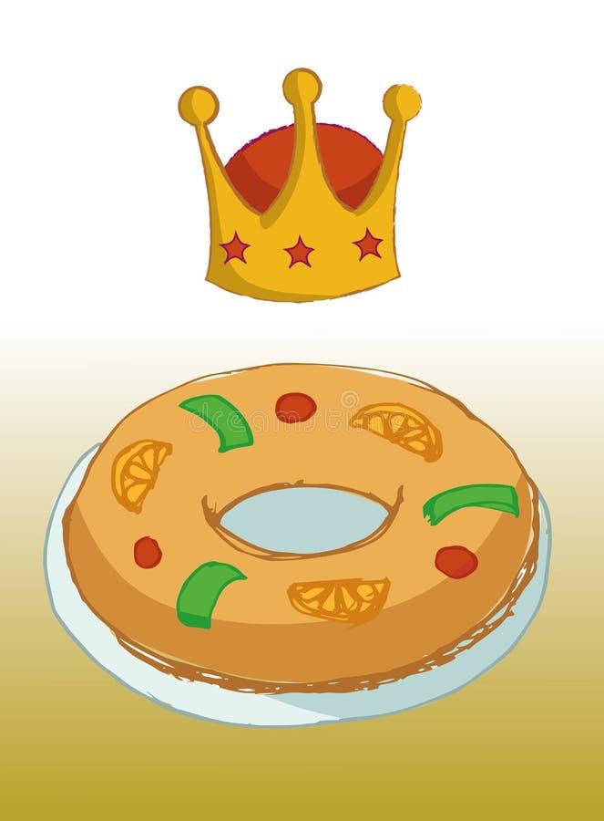 Le Roi Cake illustration de vecteur
