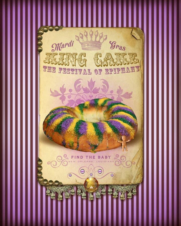 Le Roi Cake de NOLA Culture Collection Mardi Gras illustration de vecteur