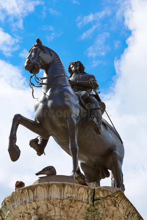 Le Roi Charles de Londres Trafalgar Square I photographie stock