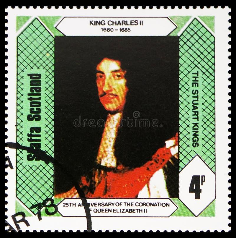 Le Roi Charles II, rois Stuart, 25ème anniversaire du couronnement de la Reine Elizabeth II, serie de Staffa Ecosse, vers 1978 photos libres de droits