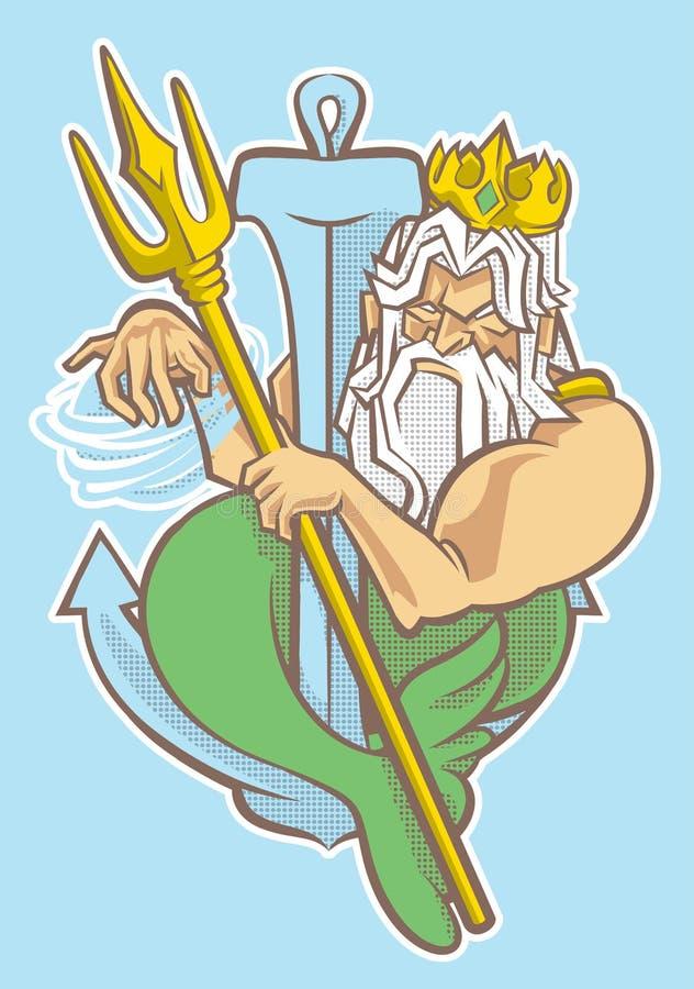 Le roi de la sirène photo libre de droits