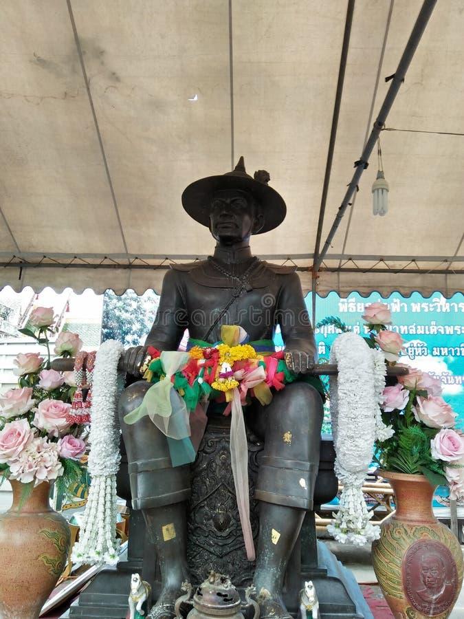 le roi de la Thaïlande dans l'histoire images libres de droits