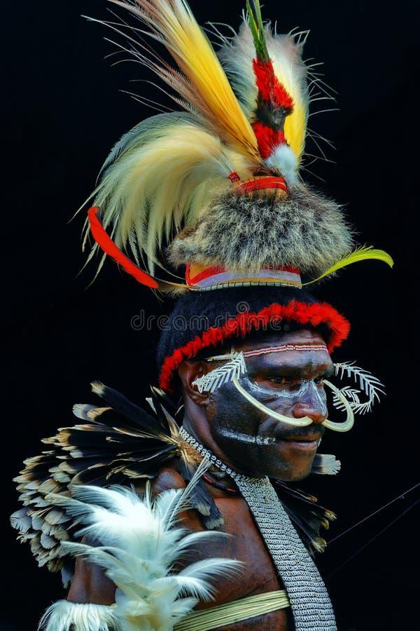 Le roi de la vallée Papouasie Indonésie de Baliem image stock