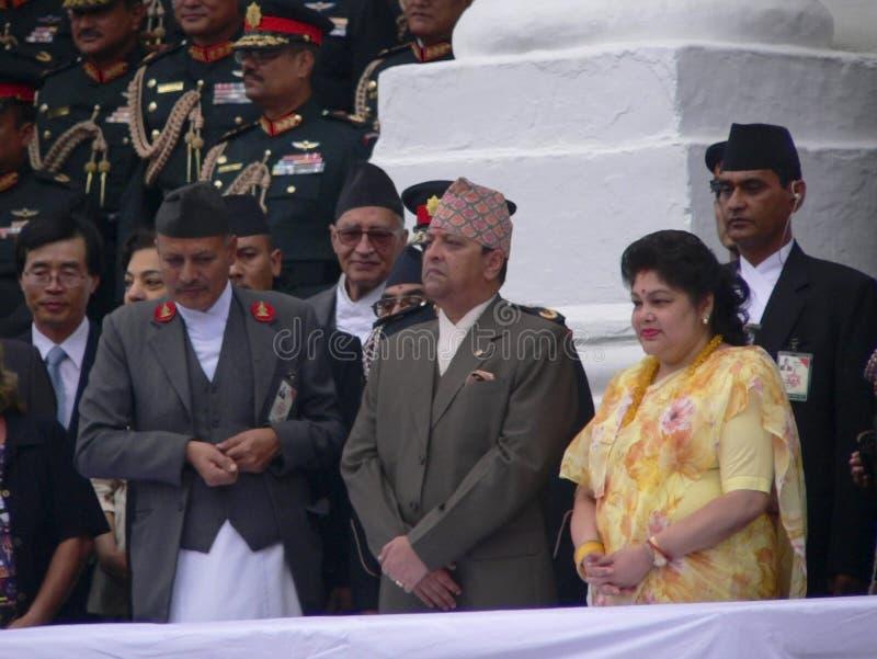 Le Roi Gyanendra et la Reine Komal Népal 2005 photos stock