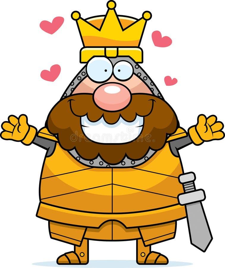 Le Roi Hug de bande dessinée illustration libre de droits