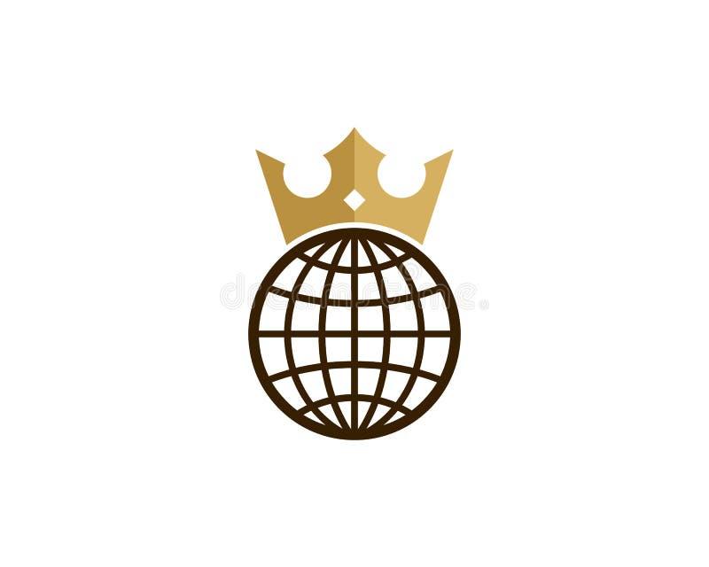 Le Roi international global Icon Logo Design Element illustration stock