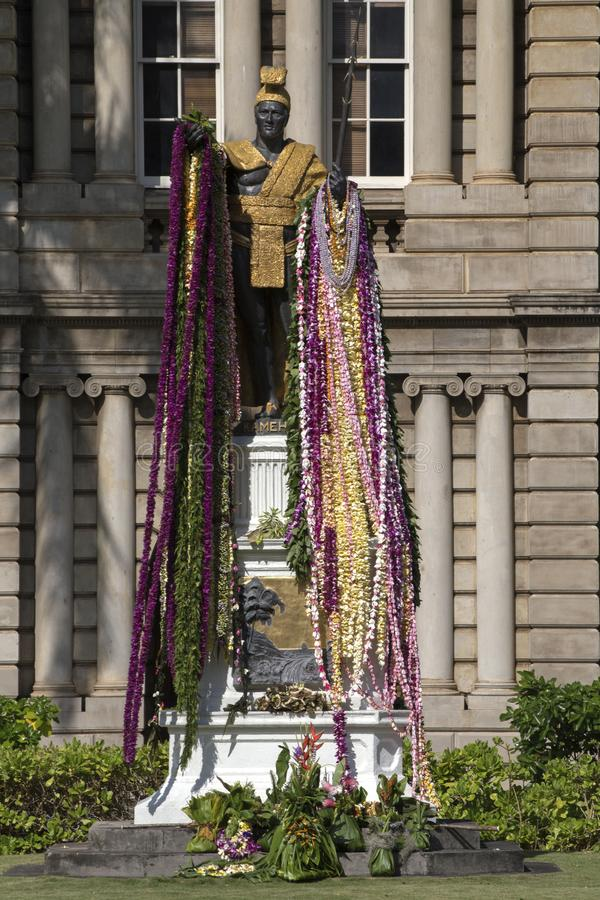 Le Roi Kamehameha image stock