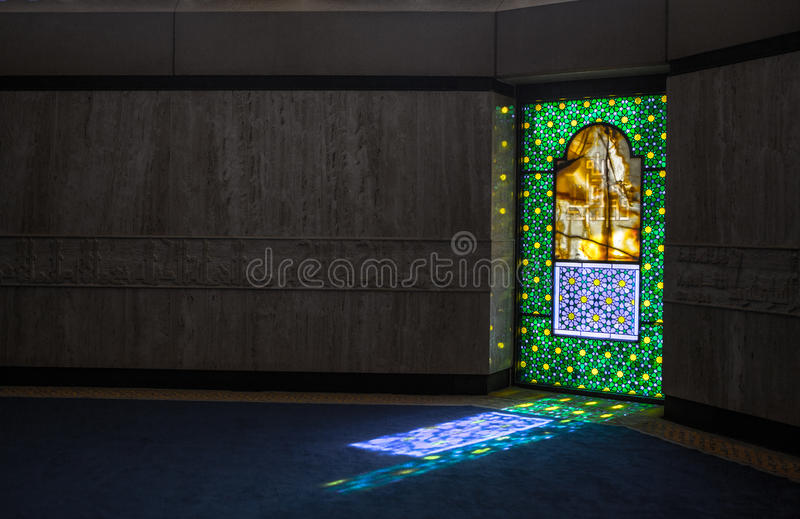 Le Roi Khalid International Airport Grand Mosque photo stock