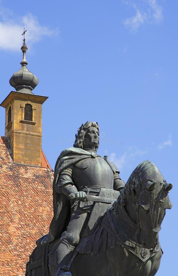 Le Roi Matei Corvin image libre de droits