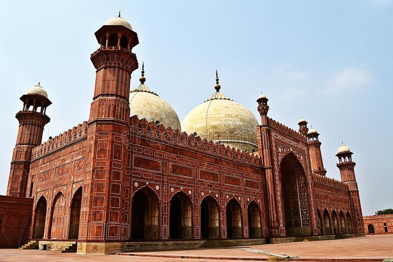 Le Roi Mosque Lahore Pakistan photographie stock libre de droits