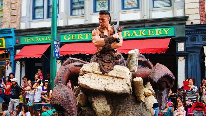 Le Roi Parade de scorpion de Singapour de studios universels photographie stock libre de droits