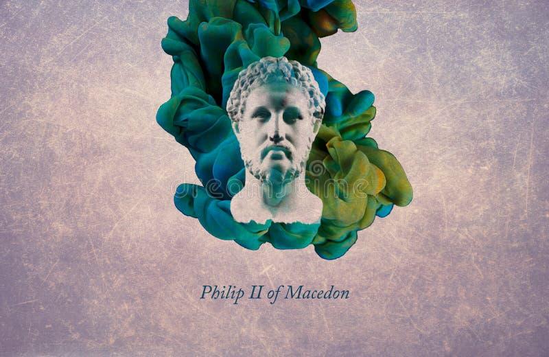 Le Roi Philip II de Macedon illustration de vecteur