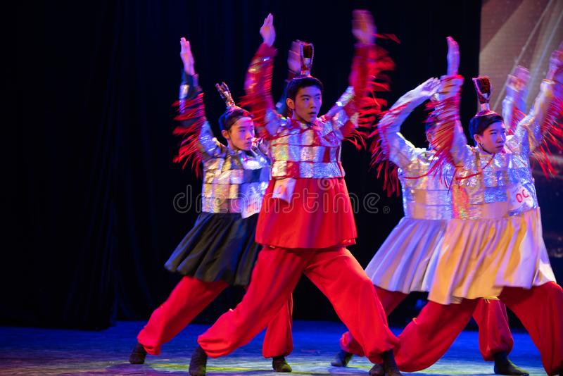 Le Roi Qin a commandé l'exposition classique de Danse-obtention du diplôme des troupes 2-Chinese du département de danse photo stock