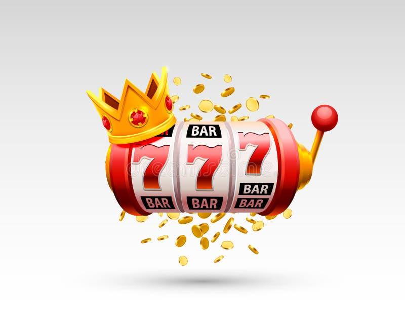 Le roi raine le casino de 777 bannières illustration stock