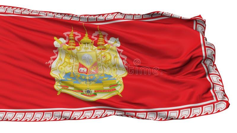 Le Roi siamois Rama V Chudhadhujdhippatai Flag d'armée, d'isolement sur le blanc illustration libre de droits