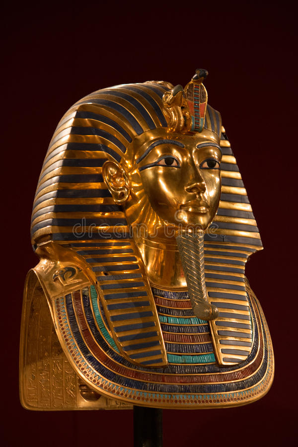 Le Roi Tut Death Mask images libres de droits