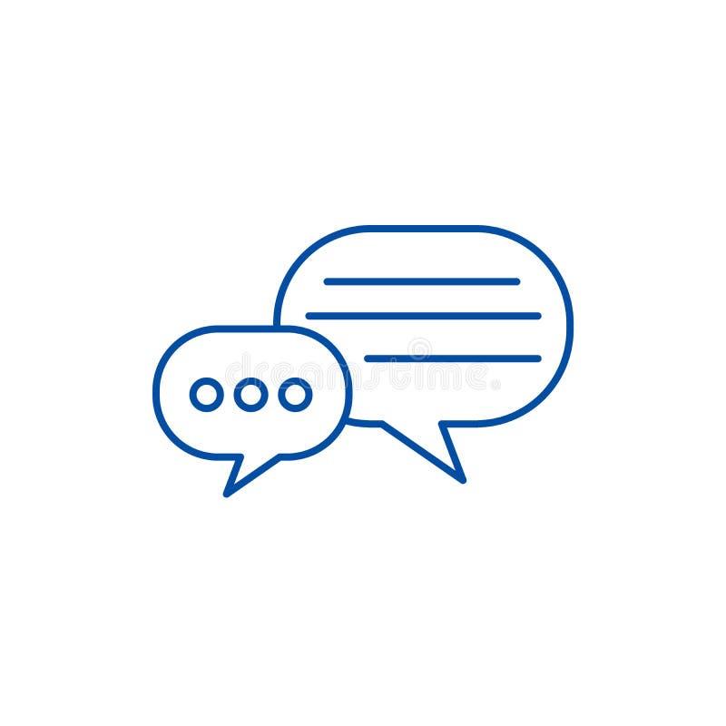 Le rond cause la ligne concept d'icône Le rond cause le symbole plat de vecteur, signe, illustration d'ensemble illustration libre de droits